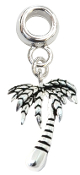 Coconut Palm Tree Silver Plate Dangle by Amanda Blu®