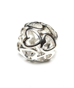 Open Heart Filagree Silver Plate Bead by Amanda Blu®