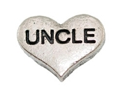 UNCLE Silver Heart Charm For Lockets