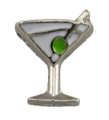 Martini Cocktail Charm For Lockets