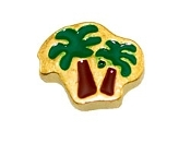 Double Palm Tree Charm For Lockets