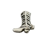 Silver Boot with Spur Charm for Lockets