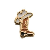 Cowboy Boot and Hat Charm for Lockets