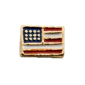 American Flag Charm For Lockets