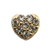 Crystal Heart Charm for Lockets