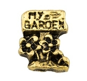 MY GARDEN Gold Charm for Lockets
