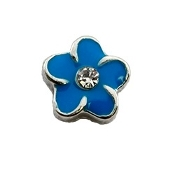 Blue Flower Charm for Lockets