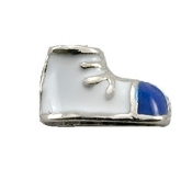 Blue Baby Shoe Charm for Lockets
