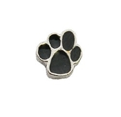 Black Paw Charm for Lockets