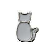White Cat Charm for Lockets