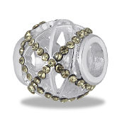 Smokey Crystal Cutout Bead By DaVinci®