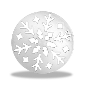 Snowflake Round Background Disc by Forever In My Heart® Lockets