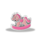 Pink Rocking Horse Charm by Forever In My Heart® Lockets