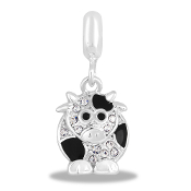 Cow Crystal Drop Accessory by Forever In My Heart® Lockets