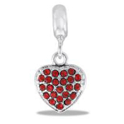 Heart CZ Bead TRUNK SALE, NO FURTHER DISCOUNT