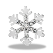 Snowflake Crystal Large Charm For Lockets - 2015 Limited Edition