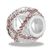 Pink Crystal Cutout Bead By DaVinci®