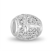 Cross Decorative Crystal Silver Bead by DaVinci®