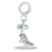Chaise & Beach Umbrella Dangle Bead by DaVinci®