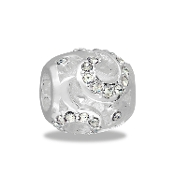 Silver and Crystal Swirl Decorative Bead by DaVinci®