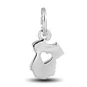 Onesie With Heart Dangle Bead for DaVinci Inspirations® Jewelry