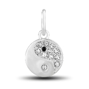 Ying & Yang Crystal  Bead for DaVinci Inspirations® Jewelry