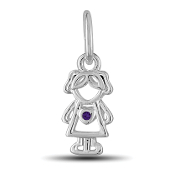 February Girl Charm by The DaVinci® Heart of Family Collection