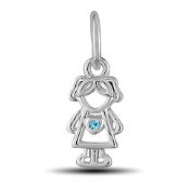 March Girl Charm by The DaVinci® Heart of Family Collection