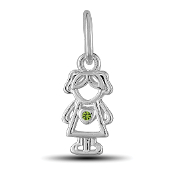 August Girl Charm by The DaVinci® Heart of Family Collection
