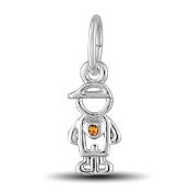 November Boy Charm by The DaVinci® Heart of Family Collection