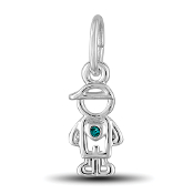 December Boy Charm by The DaVinci® Heart of Family Collection