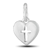 Heart and Cross Charm by The DaVinci® Heart of Family Collection