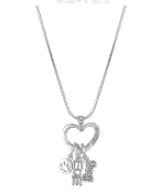 "A 18"" Heart Snake Necklace DaVinci® Heart of Family Collection"
