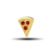 Pizza Slice Charm for Floating Keepsake Lockets