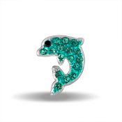 Dolphin Crystal Large Charm for Keepsake Lockets