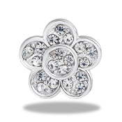 Flower Crystal Large Charm for Keepsake Lockets