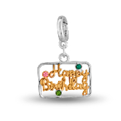 HAPPY BIRTHDAY Drop Accessory by Forever In My Heart® Lockets