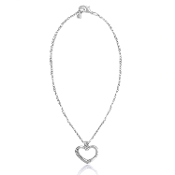 Heart Carabiner Necklace To Accept DaVinci Inspirations® Jewelry
