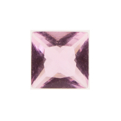 6- June Square Crystal Birthstone Charm