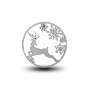 Reindeer Background Disc for Forever in My Heart Charm Lockets