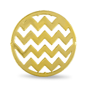 Chevron Background Gold Disc for Forever in My Heart Lockets