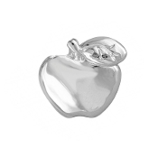 Apple Silver Charm for Forever in My Heart Lockets