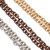 Rolo Chunky Chains (3 Tone/Size) - Stainless Steel - For Lockets