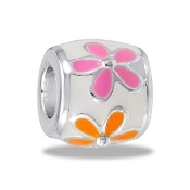 Multi-Colored Daisy Bead