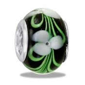 TRUNK SALE *No Further Discount* Green and White Trillium Bead