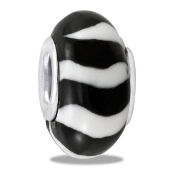 Black & White Fimo Bead - TRUNK SALE - No Further Discounts