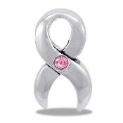 Cancer Ribbon CZ Charm