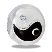 Ying Yang CZ Bead - TRUNK SALE - No Further Discounts