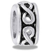 Silver Infinity Spacer Bead - TRUNK SALE NO FURTHER DISCOUNTS
