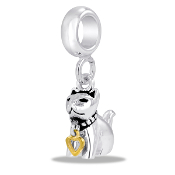 Cat Dangle Bead by DaVinci
